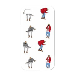Drake Ugly Holiday Christmas Apple Iphone 4 Case (white) by Onesevenart