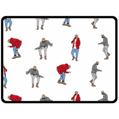 Drake Ugly Holiday Christmas Double Sided Fleece Blanket (large)  by Onesevenart