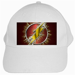 Flash Flashy Logo White Cap by Onesevenart