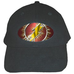 Flash Flashy Logo Black Cap by Onesevenart