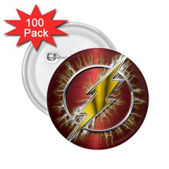 Flash Flashy Logo 2 25  Buttons (100 Pack)  by Onesevenart