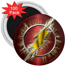 Flash Flashy Logo 3  Magnets (100 Pack) by Onesevenart