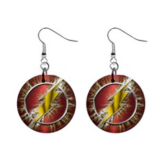 Flash Flashy Logo Mini Button Earrings by Onesevenart