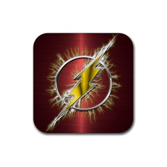 Flash Flashy Logo Rubber Coaster (square)  by Onesevenart
