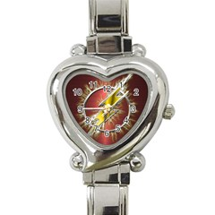 Flash Flashy Logo Heart Italian Charm Watch by Onesevenart