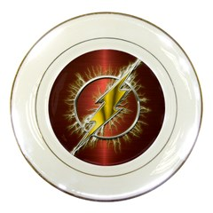 Flash Flashy Logo Porcelain Plates by Onesevenart