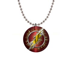 Flash Flashy Logo Button Necklaces by Onesevenart