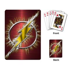 Flash Flashy Logo Playing Card by Onesevenart