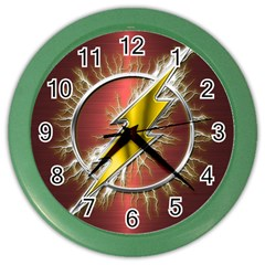 Flash Flashy Logo Color Wall Clocks by Onesevenart