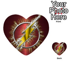 Flash Flashy Logo Multi Purpose Cards (heart)  by Onesevenart