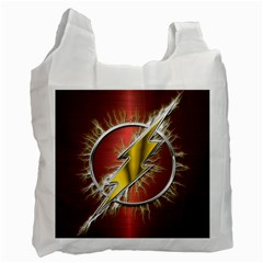 Flash Flashy Logo Recycle Bag (one Side) by Onesevenart