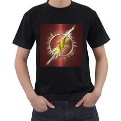 Flash Flashy Logo Men s T Shirt (black) by Onesevenart