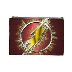 Flash Flashy Logo Cosmetic Bag (large)  by Onesevenart