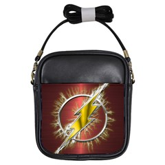 Flash Flashy Logo Girls Sling Bags by Onesevenart