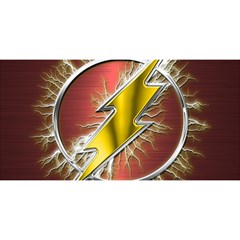 Flash Flashy Logo You Are Invited 3d Greeting Card (8x4) by Onesevenart