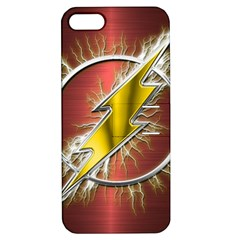 Flash Flashy Logo Apple Iphone 5 Hardshell Case With Stand by Onesevenart