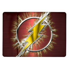 Flash Flashy Logo Samsung Galaxy Tab 10 1  P7500 Flip Case by Onesevenart
