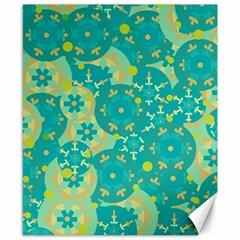 Cyan Design Canvas 8  X 10  by Valentinaart