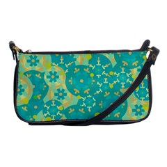 Cyan Design Shoulder Clutch Bags by Valentinaart