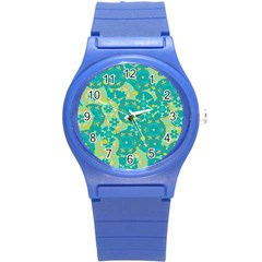 Cyan Design Round Plastic Sport Watch (s) by Valentinaart