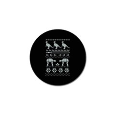Holiday Party Attire Ugly Christmas Black Background Golf Ball Marker (10 Pack) by Onesevenart