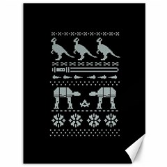 Holiday Party Attire Ugly Christmas Black Background Canvas 36  X 48   by Onesevenart