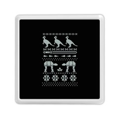 Holiday Party Attire Ugly Christmas Black Background Memory Card Reader (square)  by Onesevenart
