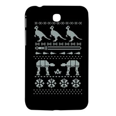 Holiday Party Attire Ugly Christmas Black Background Samsung Galaxy Tab 3 (7 ) P3200 Hardshell Case  by Onesevenart