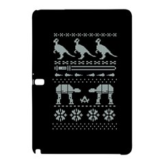 Holiday Party Attire Ugly Christmas Black Background Samsung Galaxy Tab Pro 12 2 Hardshell Case by Onesevenart