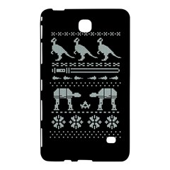 Holiday Party Attire Ugly Christmas Black Background Samsung Galaxy Tab 4 (7 ) Hardshell Case  by Onesevenart