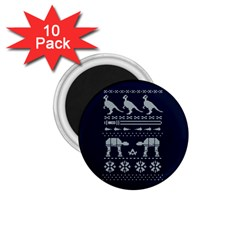 Holiday Party Attire Ugly Christmas Blue Background 1 75  Magnets (10 Pack)  by Onesevenart