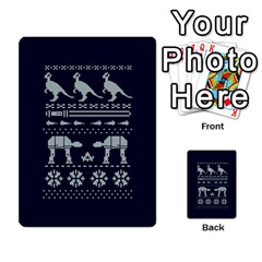 Holiday Party Attire Ugly Christmas Blue Background Multi Purpose Cards (rectangle)  by Onesevenart