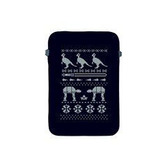 Holiday Party Attire Ugly Christmas Blue Background Apple Ipad Mini Protective Soft Cases by Onesevenart