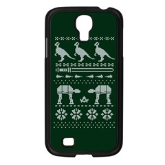 Holiday Party Attire Ugly Christmas Green Background Samsung Galaxy S4 I9500/ I9505 Case (black) by Onesevenart