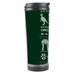 Holiday Party Attire Ugly Christmas Green Background Travel Tumbler by Onesevenart