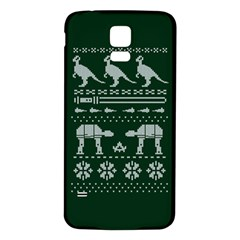 Holiday Party Attire Ugly Christmas Green Background Samsung Galaxy S5 Back Case (white) by Onesevenart