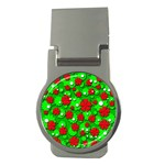 Xmas flowers Money Clips (Round)  Front