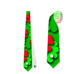 Xmas flowers Neckties (One Side)  by Valentinaart