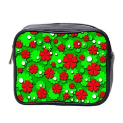 Xmas Flowers Mini Toiletries Bag 2 Side by Valentinaart
