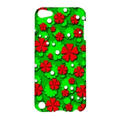 Xmas Flowers Apple Ipod Touch 5 Hardshell Case by Valentinaart