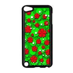 Xmas Flowers Apple Ipod Touch 5 Case (black) by Valentinaart