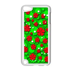 Xmas Flowers Apple Ipod Touch 5 Case (white) by Valentinaart