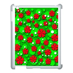 Xmas Flowers Apple Ipad 3/4 Case (white) by Valentinaart
