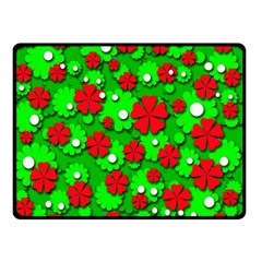 Xmas Flowers Double Sided Fleece Blanket (small)  by Valentinaart
