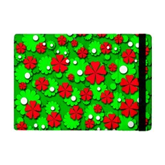 Xmas flowers iPad Mini 2 Flip Cases by Valentinaart