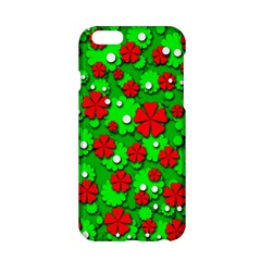 Xmas Flowers Apple Iphone 6/6s Hardshell Case by Valentinaart