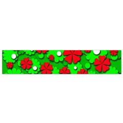 Xmas Flowers Flano Scarf (small) by Valentinaart