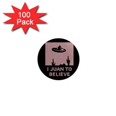 I Juan To Believe Ugly Holiday Christmas Black Background 1  Mini Magnets (100 Pack)  by Onesevenart