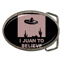 I Juan To Believe Ugly Holiday Christmas Black Background Belt Buckles by Onesevenart