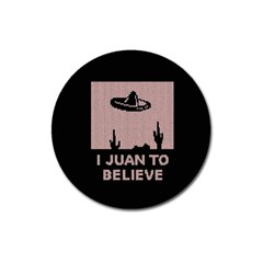 I Juan To Believe Ugly Holiday Christmas Black Background Magnet 3  (round) by Onesevenart